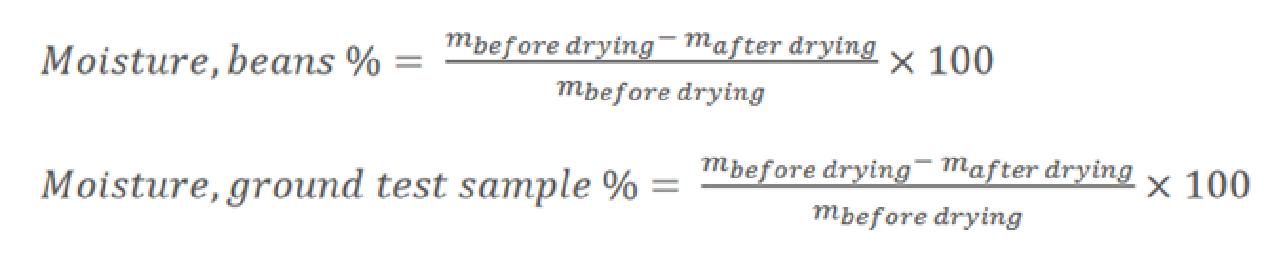 moisture content calculation