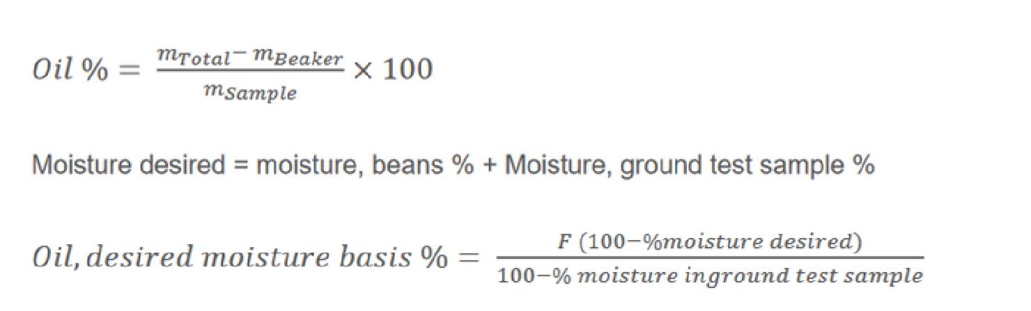 moisture content calcultion; oilseeds